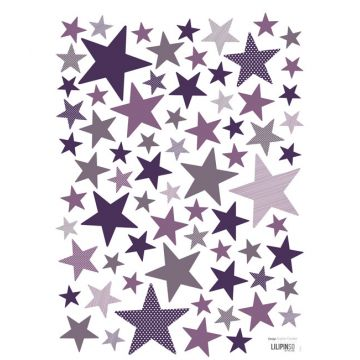 Stickers étoiles Pretty Purples
