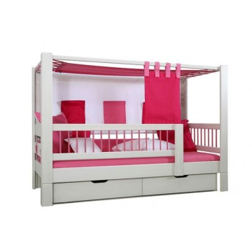 lit enfant bas baldaquin tiroirs deluxe bambins d co. Black Bedroom Furniture Sets. Home Design Ideas