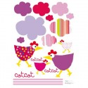 Stickers Cot, Cot, Cot Rose