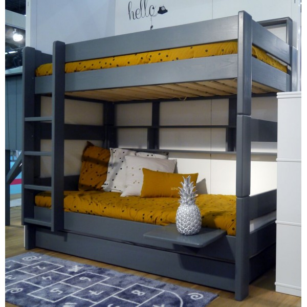 lit superpos avec tag re dominique 166 cm dissociable bambins d co. Black Bedroom Furniture Sets. Home Design Ideas