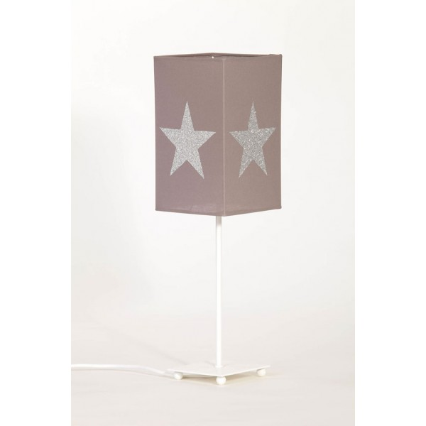 Lampe de chevet taupe paillettes bambins d co - Chevet couleur taupe ...