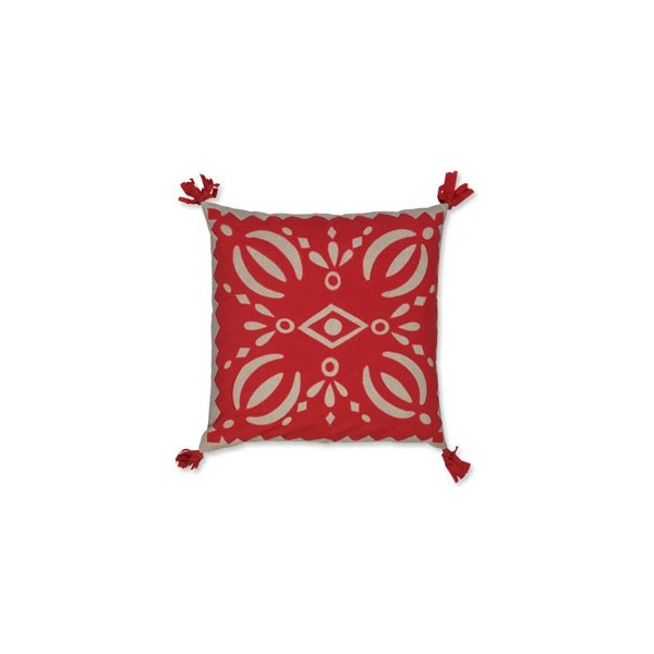 Housse coussin casablanca rouge bambins d co for Housse coussin rouge