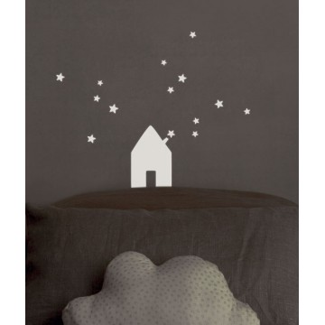 Sticker Maison Phosphorescent