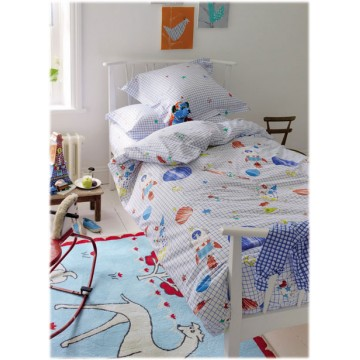 Housse de couette enfant to the moon bambins d co for Housse de couette chevalier