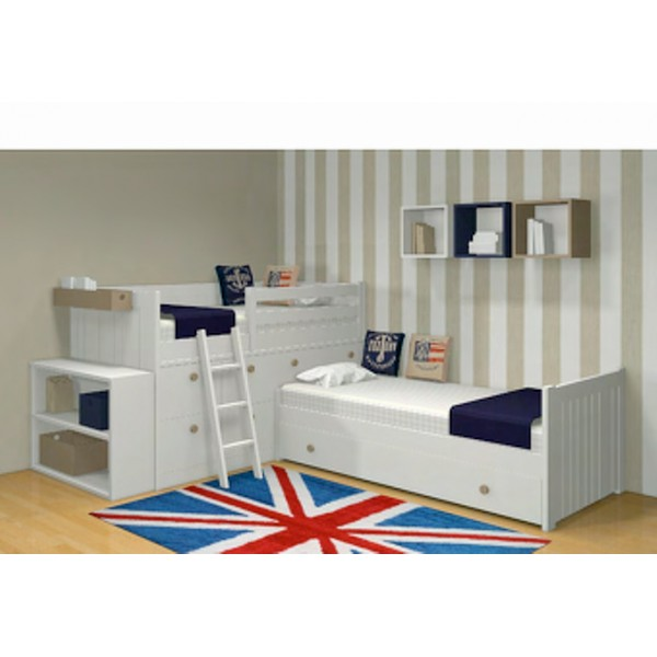 chambre enfant modulaire lit bloc bahia 172013 bambins d co. Black Bedroom Furniture Sets. Home Design Ideas