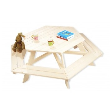 table de jardin nicki 6 places pour enfant bambins d co. Black Bedroom Furniture Sets. Home Design Ideas