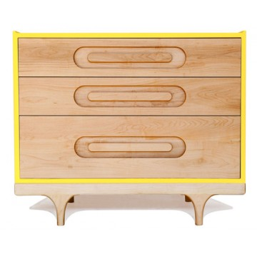 Commode bébé design Caravan Jaune