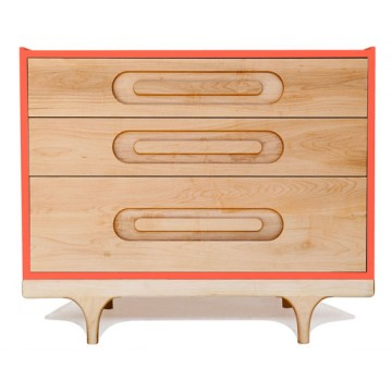Commode bébé design Caravan rouge