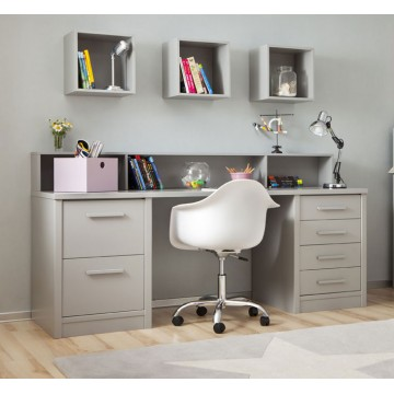 bureau enfant 2 caissons tag re bambins d co. Black Bedroom Furniture Sets. Home Design Ideas