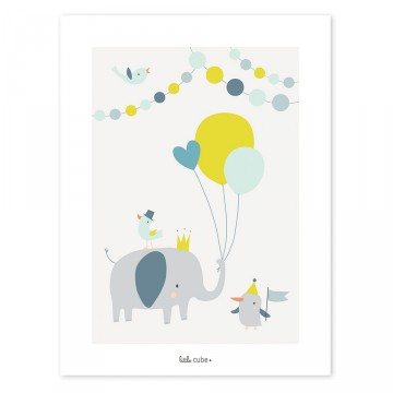 Affiche Little Boy Elephant