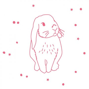 Sticker lapin fluo