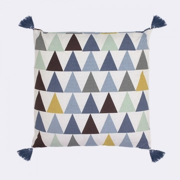 Coussin Triangle bleu