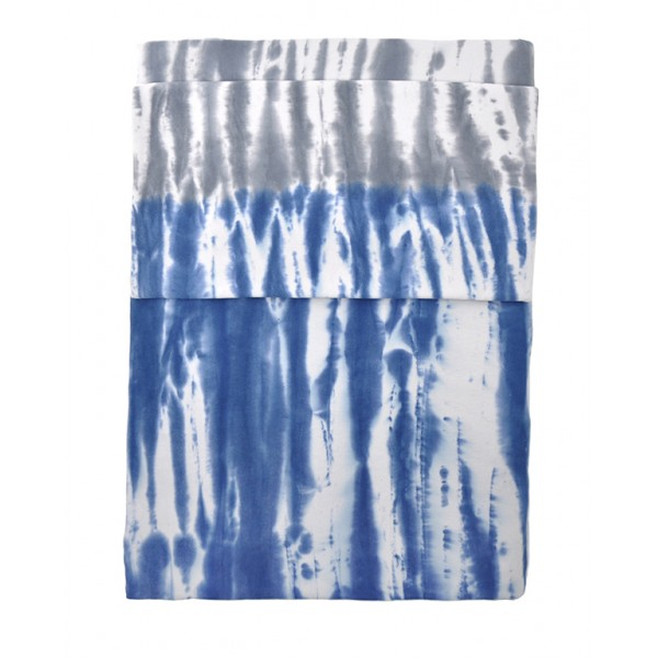 Housse de couette tie and dye bleue bambins d co for Housse de couette bleue