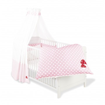 Ensemble textile pois rose
