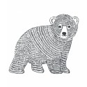 Sticker XL ours Enchanted