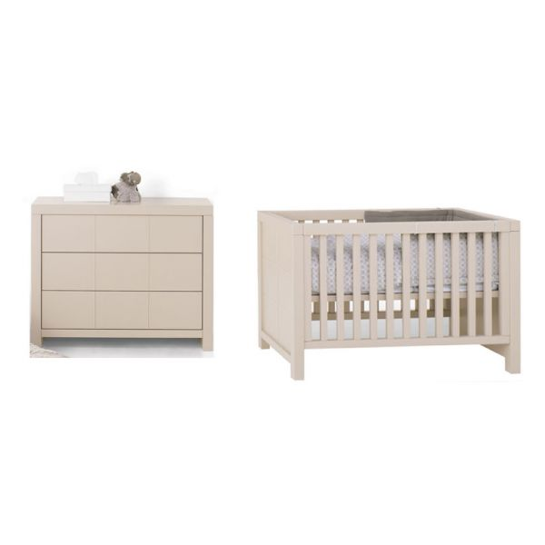 Lit b b 60x120 commode quarr 3 couleurs bambins d co for Chambre bebe lit et commode